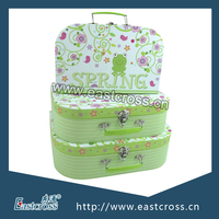 Handmade Cartoon Design Paper Storage Suitcase Box Set