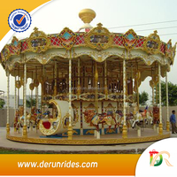 Video Available!!! DERUN RIDES plastic electric fiberglass carousel horses for sale