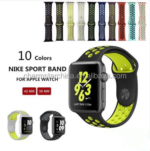 The New Silicone Band For Nike Sport 10 Colors For Apple Watch 38MM 42MM