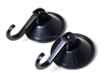 4.5 cm black plastic PVC vacuum suction cup with hooks for bathroom