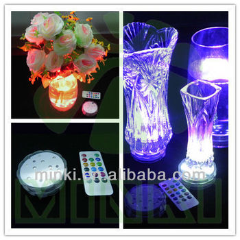 Color Changing Led Submersible Lights With Remote Control