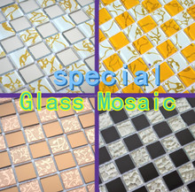 2017 cheap mirror glass mosaic,black and white,fashion,cake store,desk