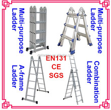Aluminium straight folding ladder
