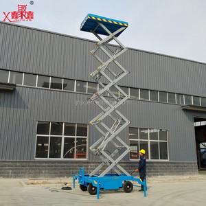 16m lifting height hydraulic electric scissor sky lift for painting