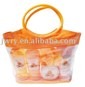 5PCS FLOWER SCENT BATH SET IN PET BAG