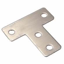 Factory Price Steel angle Bracket Metal flat T bracket with hole