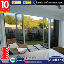 China good price upvc profile tempered glass swing doors supplier