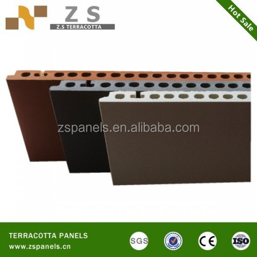 Full body decorative terracotta wall fired clay tile,buidling facade wall terracotta tile, terracotta wall cladding fasade board