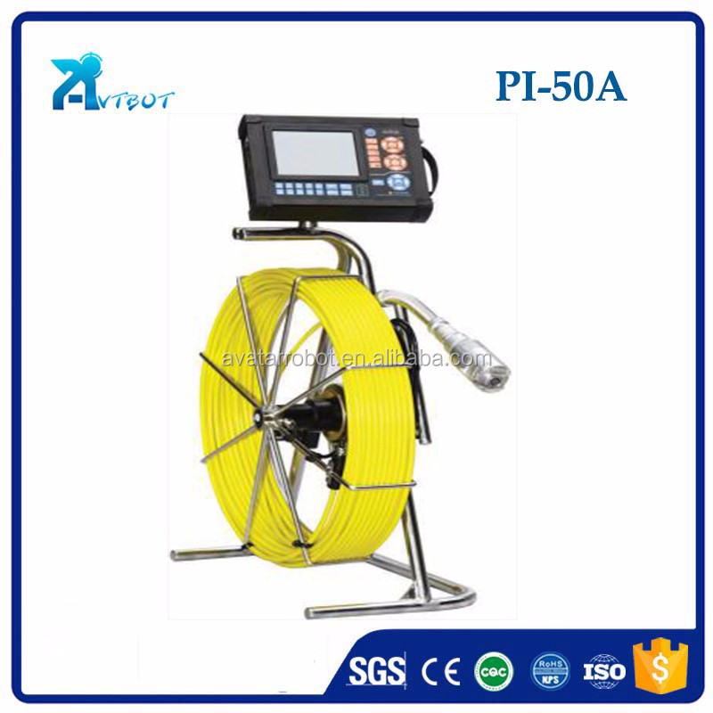 PI-50A small underground CCTV PTZ Drain Sewer Pipe Inspection Camera