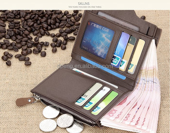 Wholesale Promotional bifold Genuine leather handmade human leather mens wallet