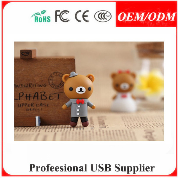 Custom UBS Design 3D Cartoon Design PVC gift usb flash disk , promotion gift for drink