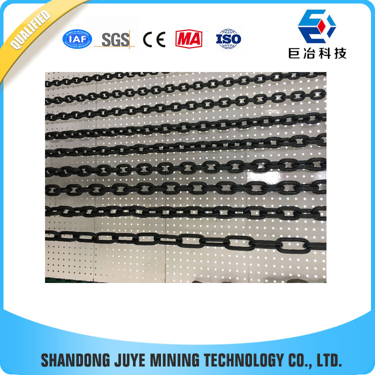 10dimeter 40pitch black coated mining steel link chain for conveyor in coal mining