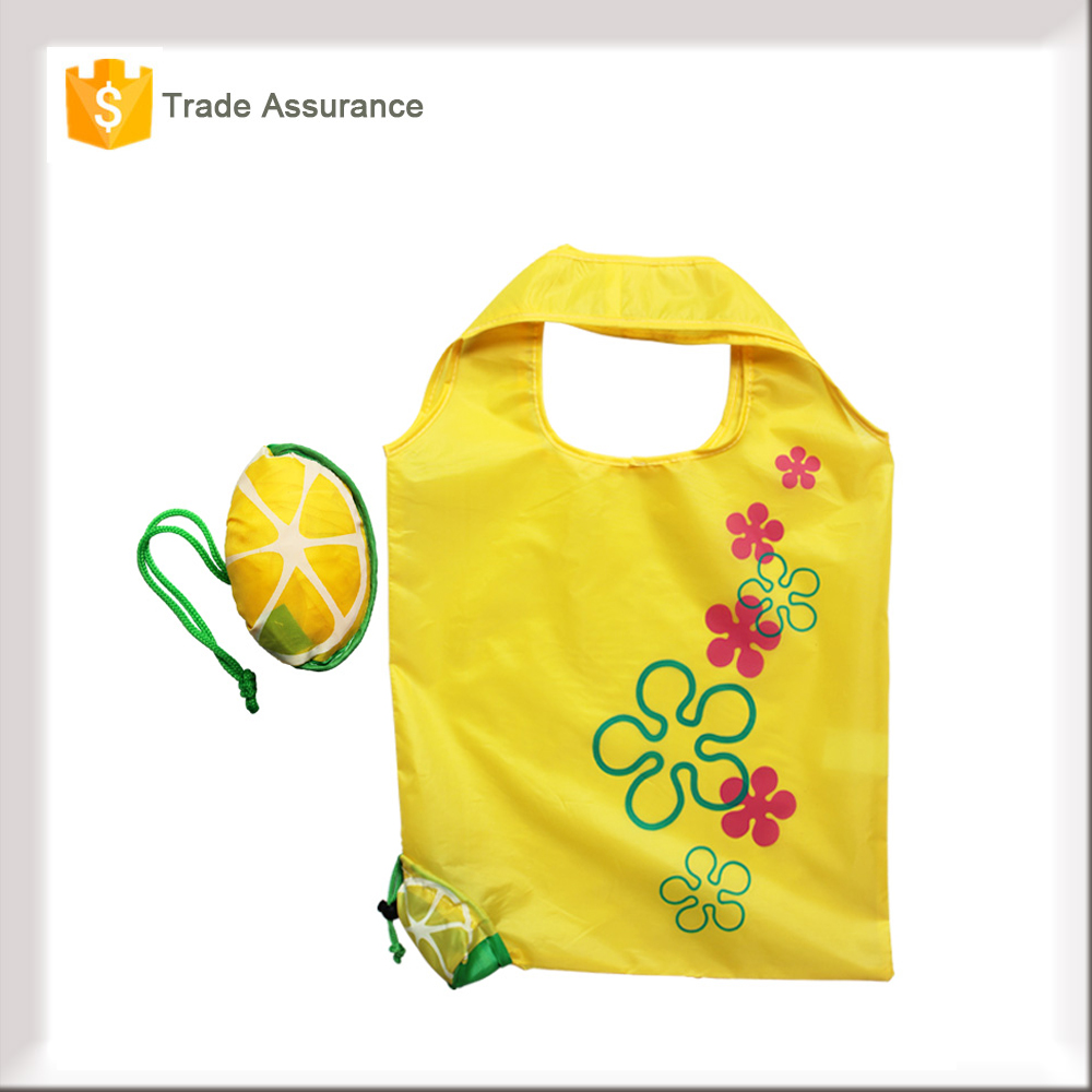 Wholesale Supermarket Cheap Recycled Lemon Foldable Shopping Bag