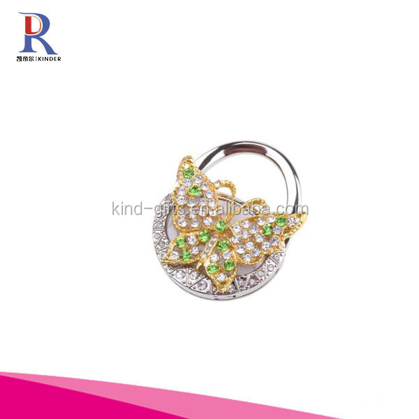 Butterfly Shape Foldable Handbag Bag Purse Table Hanger Hanging Hooks