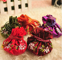 Chinese Style Silk Brocade Mini Bracelet Pouch , Coin Purse CH106