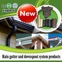 Roofing drainage material 7inch white grey brown color aluminium gutter downspout system