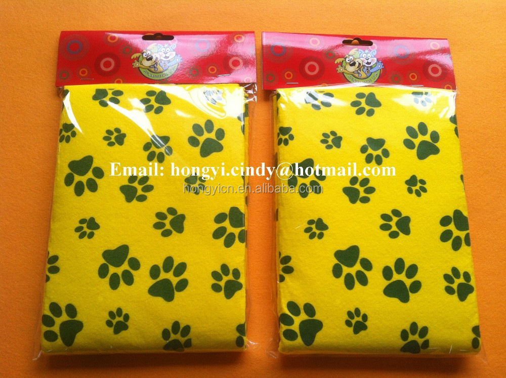 Super water absorbent printed nonwoven fabric pet drying cloth