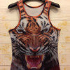 Mens Summer 3D Animal Printed Rock