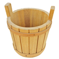 User-friendly wooden keep well temperature wooden ice bucket with handles