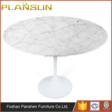 Classic Designer dining tables Lippa Saarinen Round White Cararra marble Top Dining Table