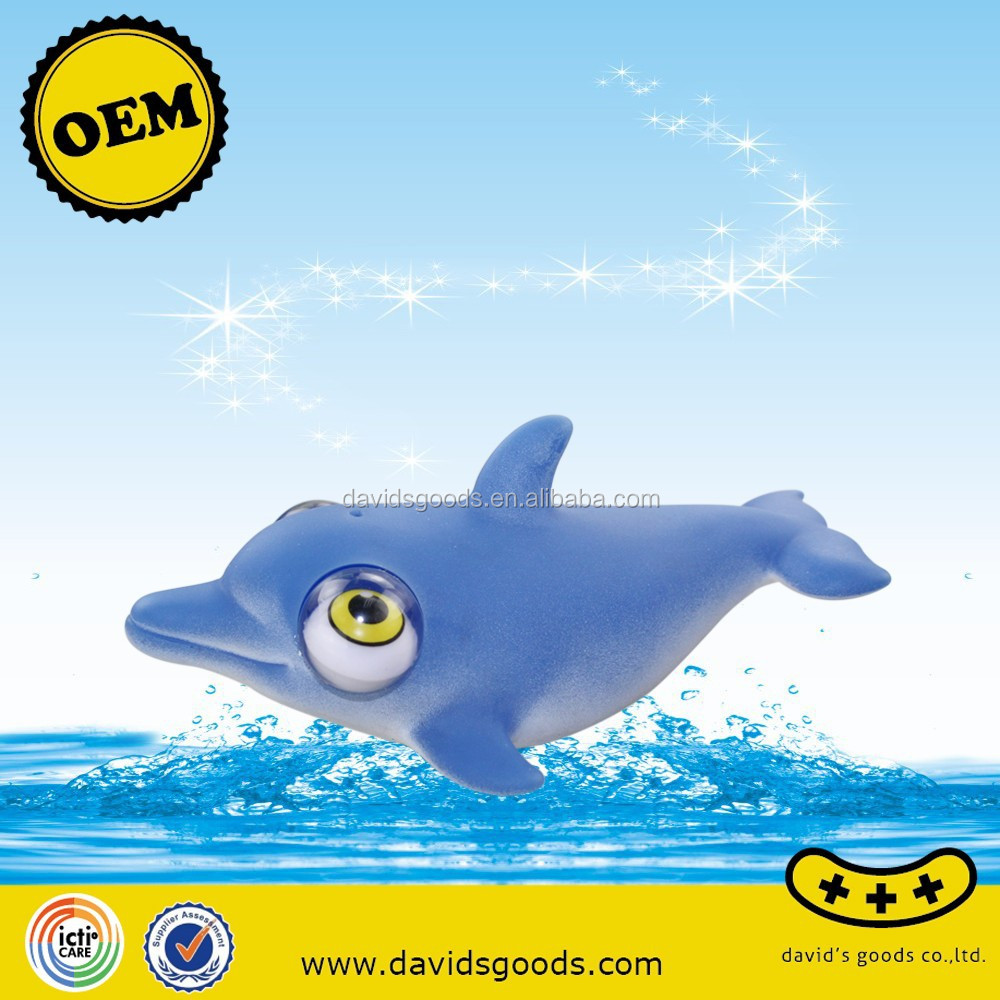 rolling eye poped dolphin toys custom animal urban vinyl 3C vinyl toys producer