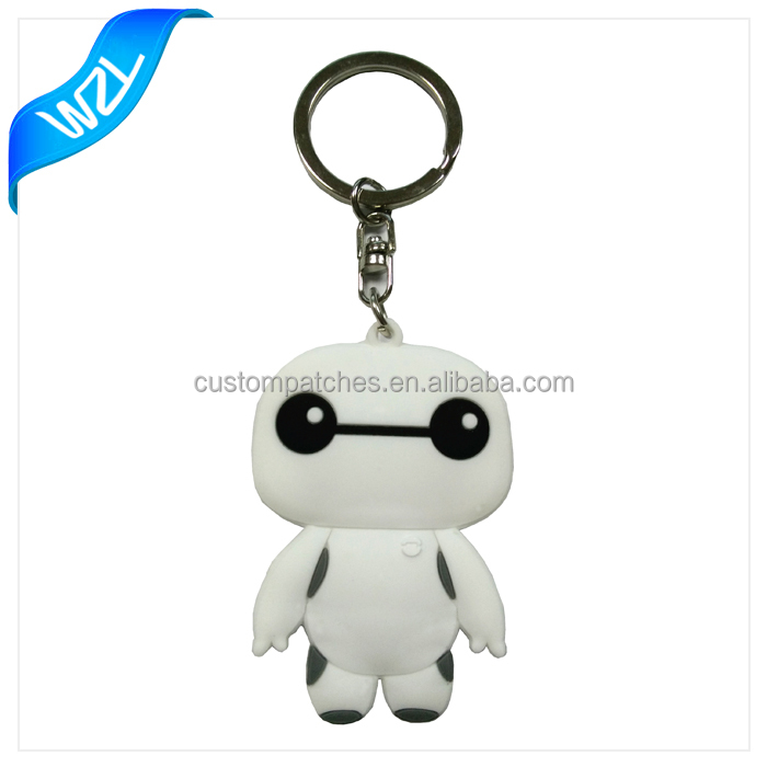 Hot selling custom promotional soft rubber keychains