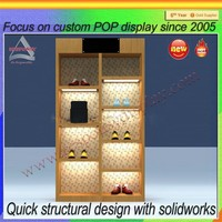 double sides ladies shoes store display design/wall shoes display rack