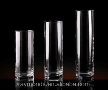 Cylinder crystal glass vase wholesale cheap