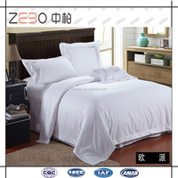 Factory Directly Sale Pure White 300TC Cotton Queen Hotel Collection Bed Sheets