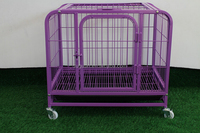 wholesale dog kennel good quality strong heavy duty square tube large dog cage with wheels
