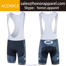 Simple Black Pattern Style Cycling Bib Shorts with Breathable Pad Hot Sale Bikecycle Shorts