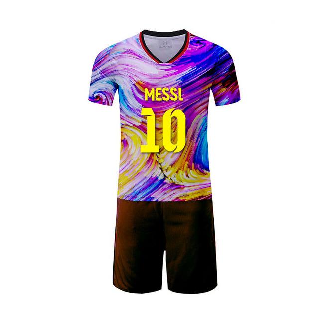 Sky blue soccer jersey set referee polyester custom jerseys garment