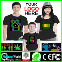 Hot selling High quality sound activated custom led t shirt