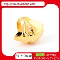 Gold funny & funky finger ring jewelry in guanghzou