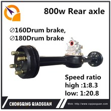 China high quality 800w black rear axle with differential in tricycle