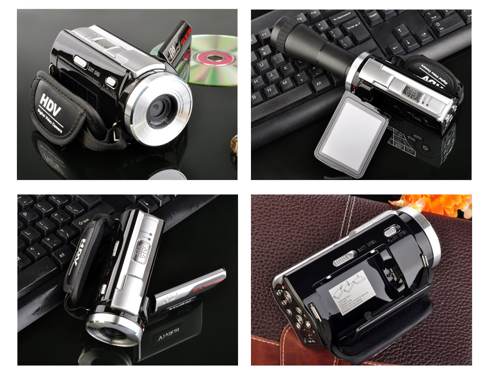 1080p digital camera ,digital camcorder with remore control ,hd dv with long lens
