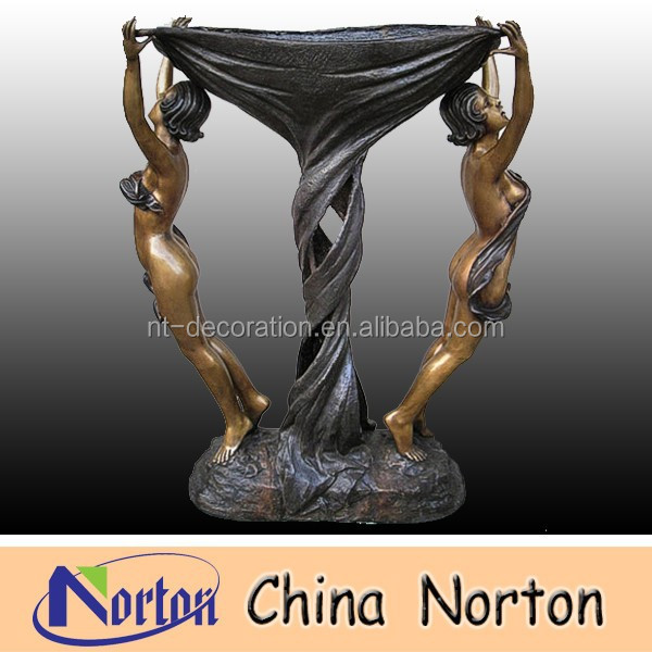 Two ladies Large bronze fountain NTBF-M019