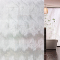 China supplier cheap PVC frosted decorative artical film for shower room / door