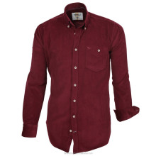 Wholesale Maroon Velvet Shirts for Men