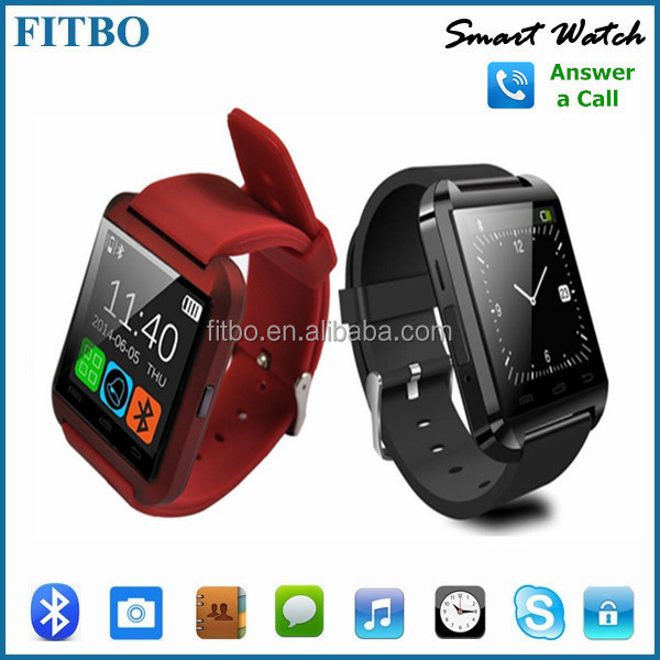 Classical Design Anti Lost Pedometer U8 new model watch mobile phone for Samsung s5 s6 s7 edge Apple 6 7 plus