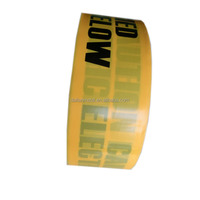 China Printed security none adhesive PE warning barrier tape