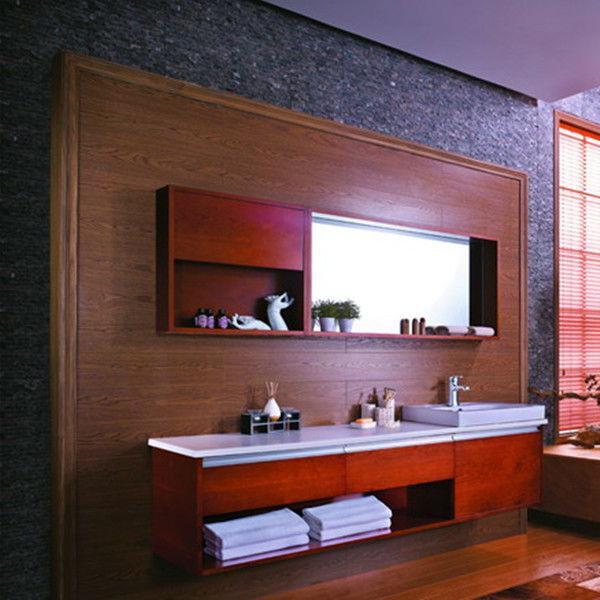 Laminado de madera gabinete de cuarto de ba o fabril for Gabinetes de bano en madera