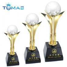 Fashion souvenir 24K gold plated available custom metal award trophy