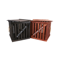 Wood Storeage Crates With Lids YIXING4187