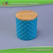 home aroma bamboo joint ceramic candles container