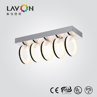 modern acrylic led ring light with 5 lights