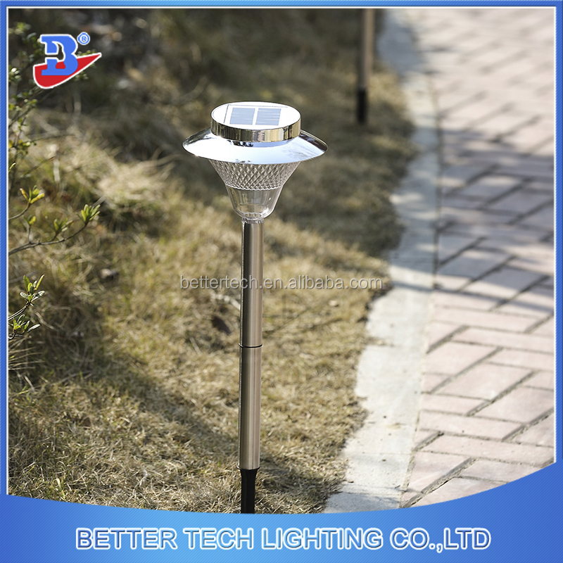 32led Silvery-Plated Solar Powered Stick Lights Outdoor Garden Path Patio Lamp