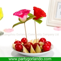 garden party food bambo fruit stick