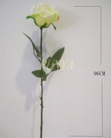 Light yellow single artificial rose bud