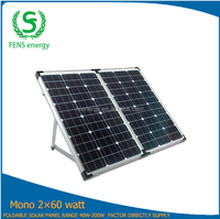 High efficiency 120w mono foldable solar panel for solar panel mounting rack
